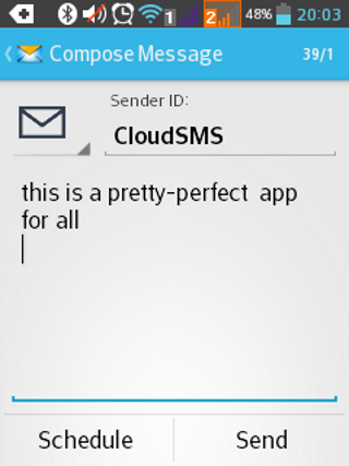 CloudSMS- screenshot