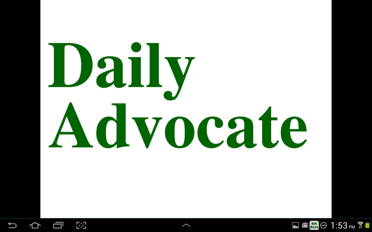 The Daily Advocate- screenshot