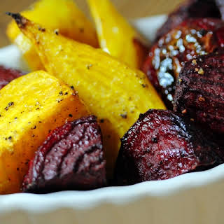 Paleo Roasted Golden & Red Beets.
