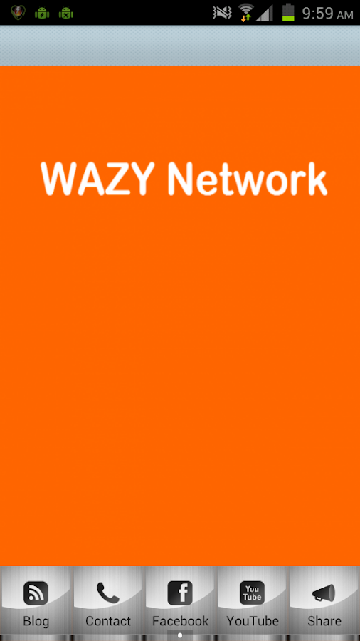 Wazy Network - screenshot