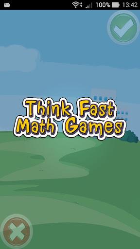 【免費教育App】Think Fast Math Games-APP點子