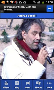 Andrea Bocelli- screenshot thumbnail
