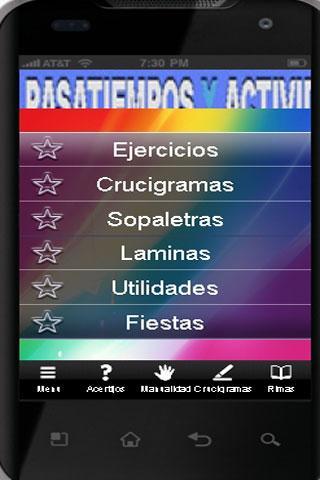 Pasatiempos y actividades- screenshot