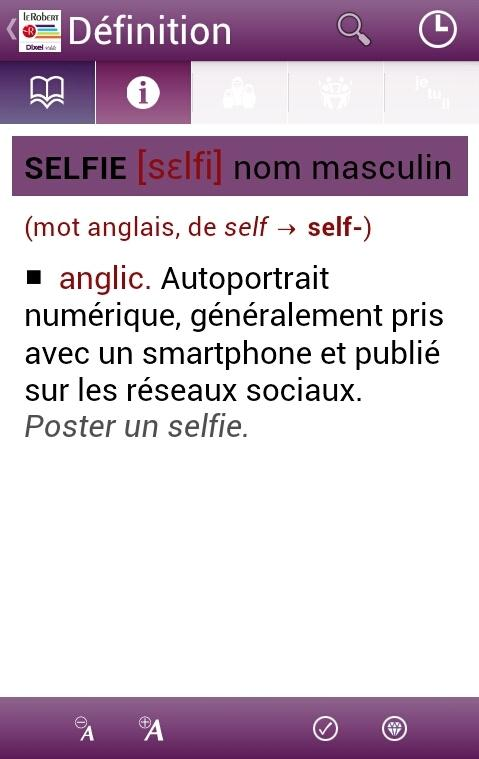 Dictionnaire Le Robert Mobile – Capture d'écran