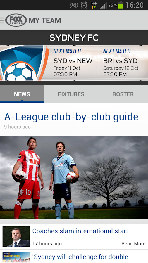 FOX SPORTS A-League - screenshot