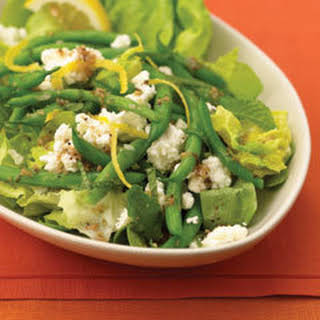 Green Bean & Feta Salad With Red Wine Vinaigrette.