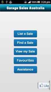 Garage Sales Australia app - screenshot thumbnail