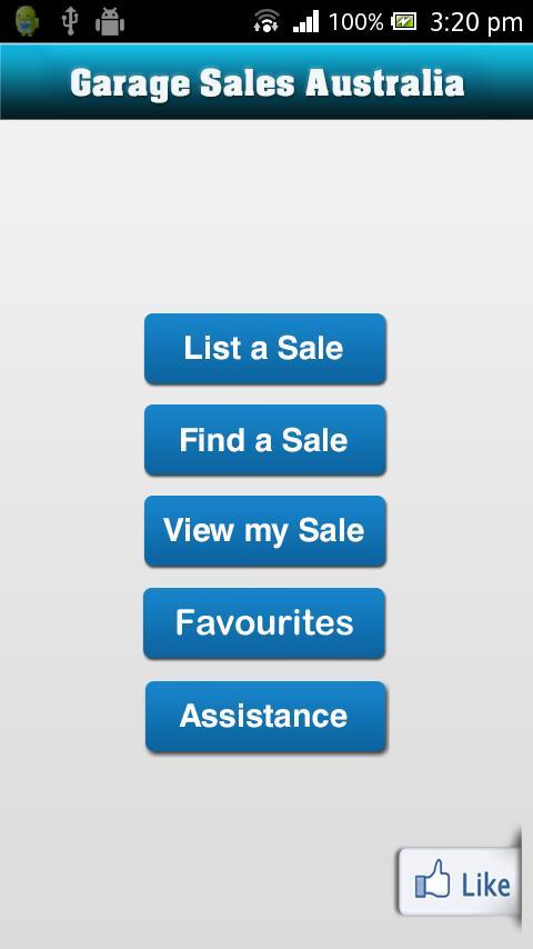 Garage Sales Australia app - screenshot