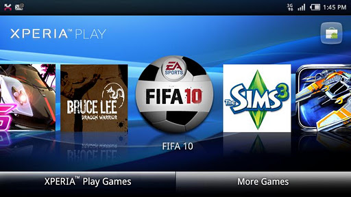Xperia™ PLAY games launcher