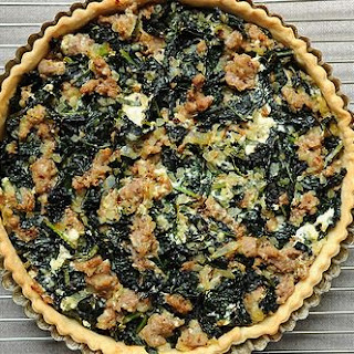 Sausage and Kale Dinner Tart