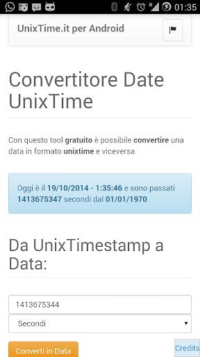 convertitore Unix Time
