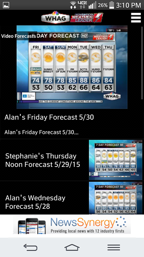WHAG Weather - screenshot