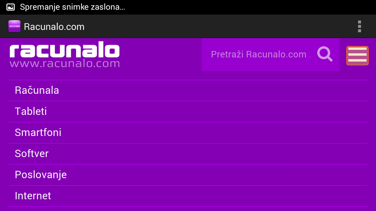 Racunalo.com- screenshot
