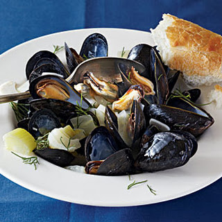 Mussels in Fennel Broth.