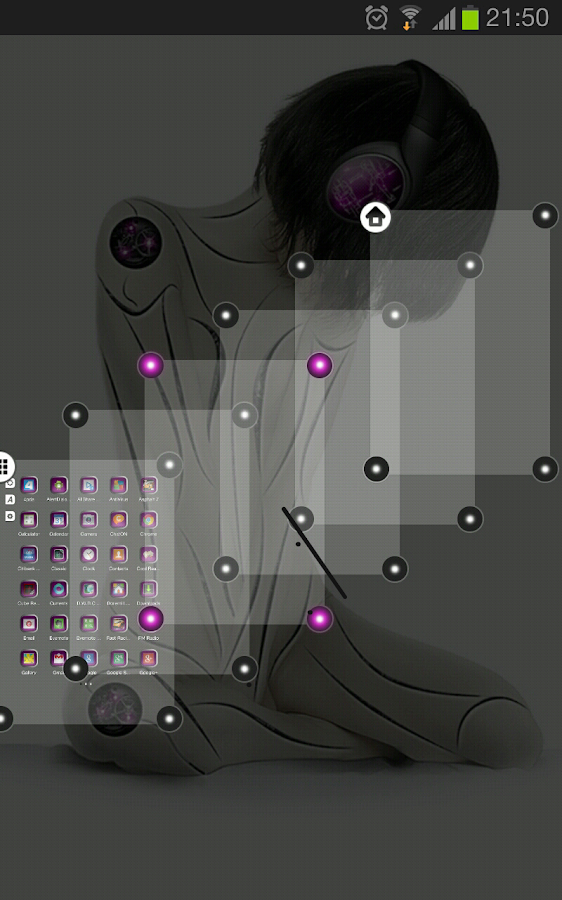 TSF Shell theme CyborggirlP HD - screenshot