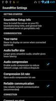 Screenshot of SoundWire (free version)