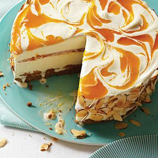 Apricot Almond Swirl Ice Cream Pie