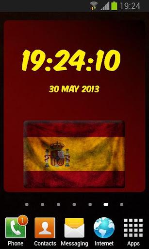 西班牙數字時鐘