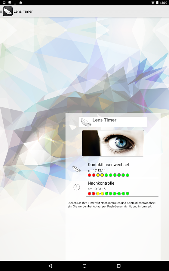 Lens Timer – Screenshot