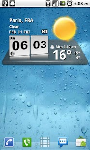 App 3D Digital Weather Clock APK for Kindle