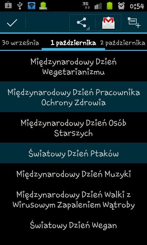 Kalendarz Świąt Nietypowych- screenshot