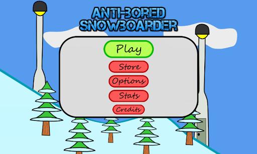 Antibored Snowboarder