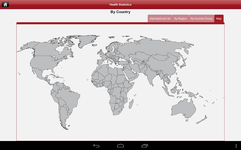 HealthStats DataFinder - screenshot