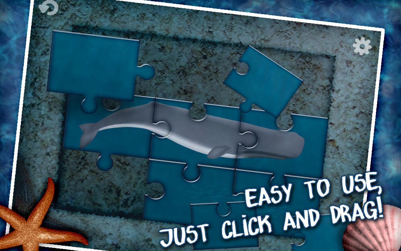 Jigsaw Puzzle: Whales & Sharks- screenshot