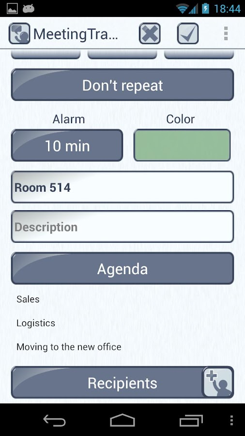 Meeting Tracker - screenshot