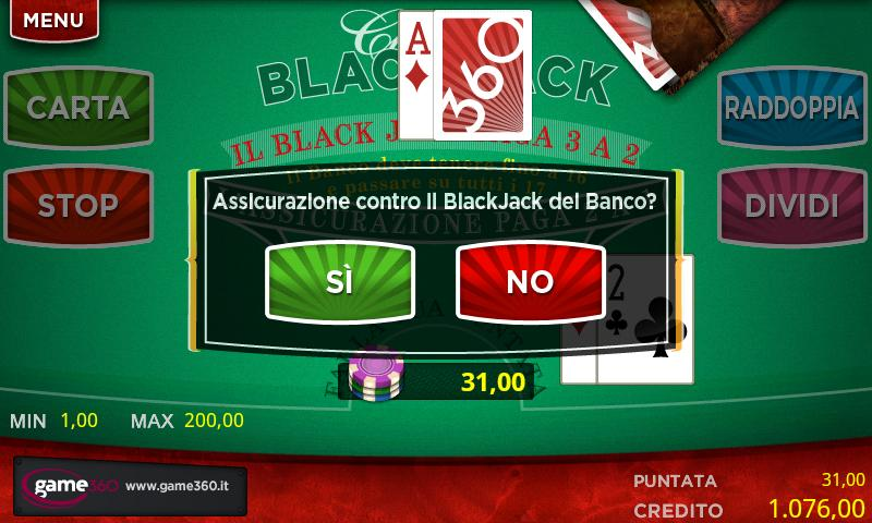 360 BlackJack - screenshot