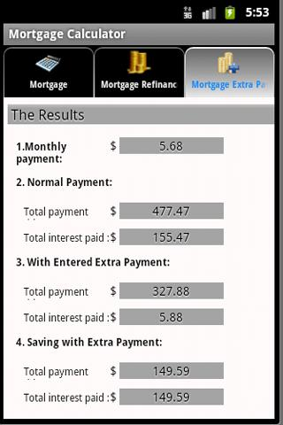 Vincent It Mortgage Calculator - screenshot