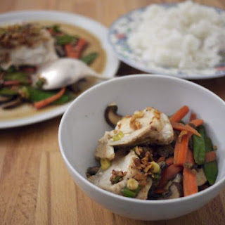 Chinese Steamed Fish + Stir-Fried Veg Trio.