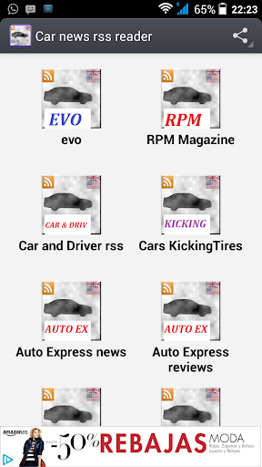 Car magazines rss reader