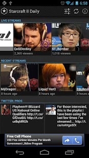 Starcraft II Daily Lite - screenshot thumbnail