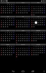 12個月的年曆