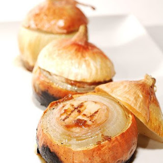 Grilled Scallop-Stuffed Sweet Onions.