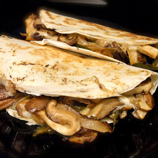 Mushrooms, Poblano and Manchego Quesadillas.