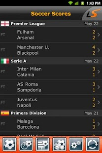 LiveScore Screenshot 1