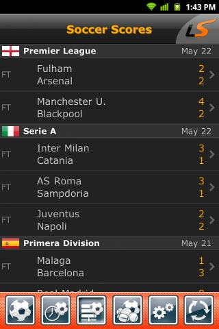 LiveScore - screenshot