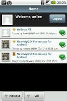 Screenshot of MyQSX Forum