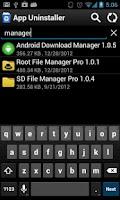 Screenshot of App Uninstaller
