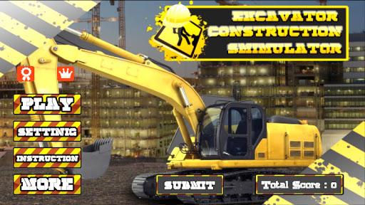 Excavator Construction Driving