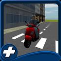 Stadtroller fahren Verkehr icon