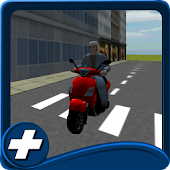 city scooter traffic drive 3D