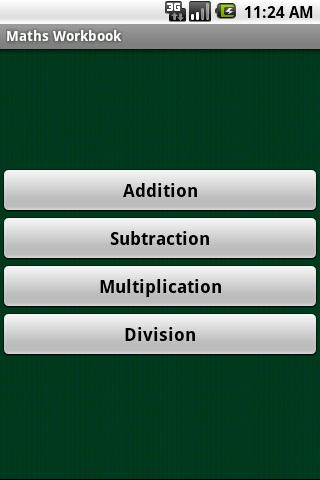 Maths Workbook - screenshot