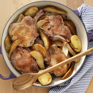 Pork Chops with Pears and Cider.
