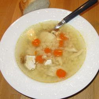 Easy Chicken and Pasta Soup.