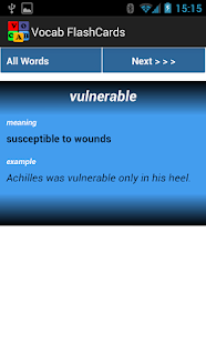 Eleven Plus Vocab FlashCards- screenshot thumbnail