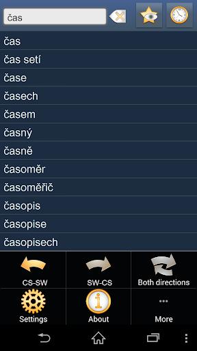 Czech Swahili dictionary