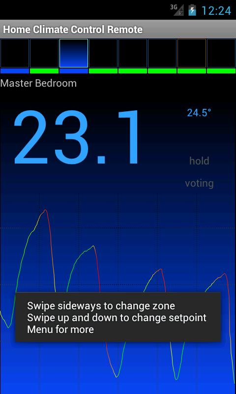 Home Climate Control Remote - screenshot